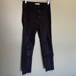 Aritzia Talula black high rise skinny jeans sz 25